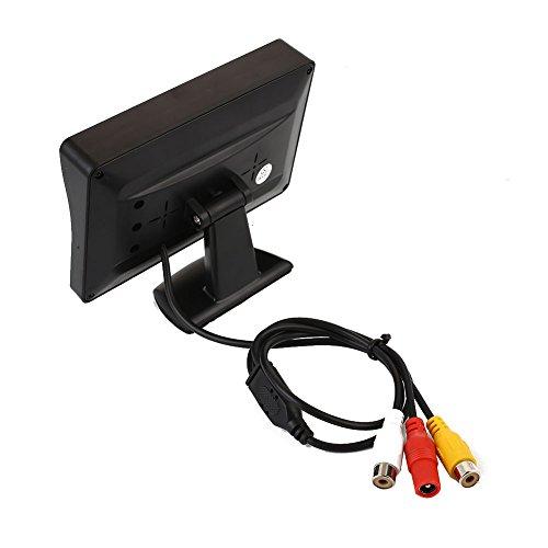 Sedeta 4.3' LCD Car Rearview Parking Mirror Monitor Night Vision Camera Reversing Wide Angle Backup Camera and Monitor kit