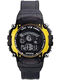 DK Enterprise Casual Digital Yellow Dial Boys Watch - DK -3801