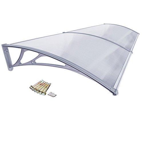 HENGMEI 76x240cm Vordach Haustür Überdachung Haustürvordach Pultvordach Türdach Regenschutz,...