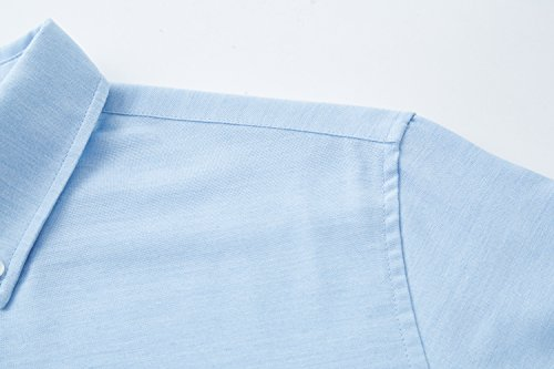 ATOUR Camicia Casual Uomo Maniche Lunghe Business Blu