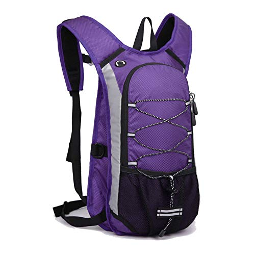 Fushenr Leichter Wanderrucksack, atmungsaktiv, für Laufen, Radfahren, Trekking, Reisen (lila)