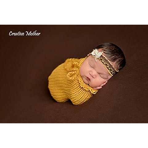Creative mamma natale Cocoon–Sacco a pelo per bambino bambina cotone crochet fotografia Prop