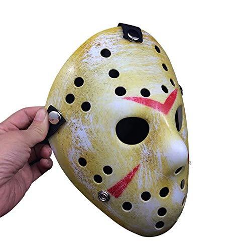 (New Jason vs Freitag Die 13. Horror Hockey Cosplay Kostüm Halloween Killer Maskerade Maske Halloween Maske-A)