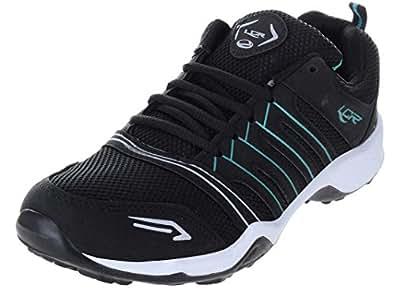Lancer Men's Green Running Shoes-7 (TRACK-1-BLK-CGRN-7)