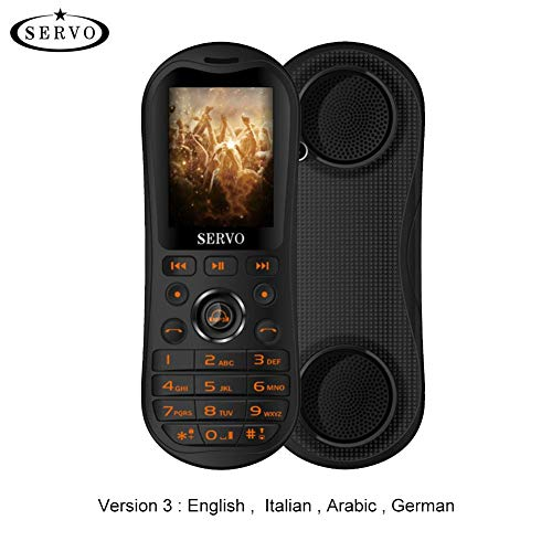 SERVO K8 2.8'HD Pantalla grande 3 Tarjeta SIM Teléfono móvil Bluetooth Altavoz Cantante Celular 5800mAh Banco de...