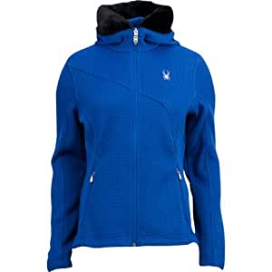 Spyder Women's Soiree Full Zip Sweater - Blue My Mind, X-Small