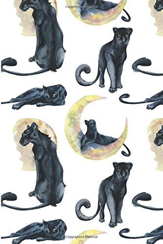 Black Panther Notebook: Black Panther Notebook Gift for Cat Lovers - Big Cats Composition Journal - Black Cat Pattern Lined Notepad Diary - Cool ... Girls Boys (6 x 9 - 120 Pages - Wide Ruled)