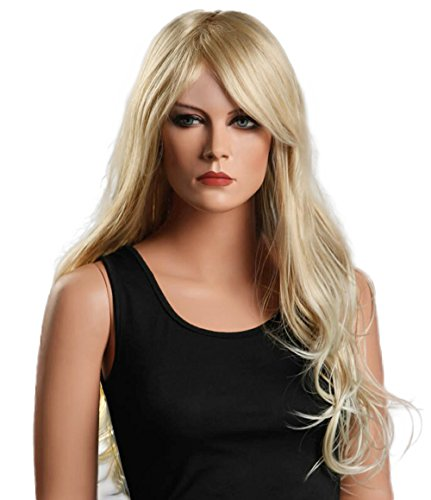 Beauty Smooth Hair Damen Lang Blonde Lockig Wellig Voll Peruecken Party Haar Cosplay Peruecke NW01 (Damen-perücke Lange)
