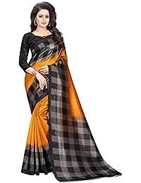 Muta Fashions Art Silk Orange Women Saree