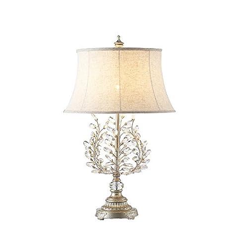 sjqka American Iron Resin Crystal Table Lamp, Hôtel de Villa Table Lamp