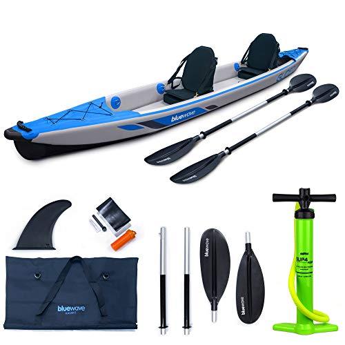41NcS771V6L. SS500  - Bluewave Inflatable Kayak - Double - Complete Set Including 'Glider' 2-Person Kayak, Seats, Paddles, Fin, Storage Bag & Pump Included – The Complete Tandem Kayaking Package