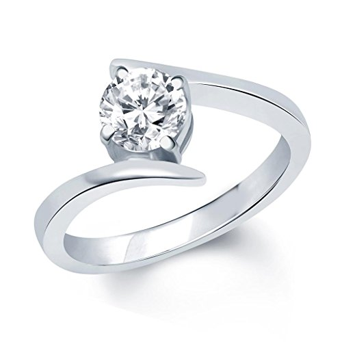 V. K. Jewels Surprise Delight Silver Brass Alloy Cz American Diamond Ring For Women Vkfr1028R8