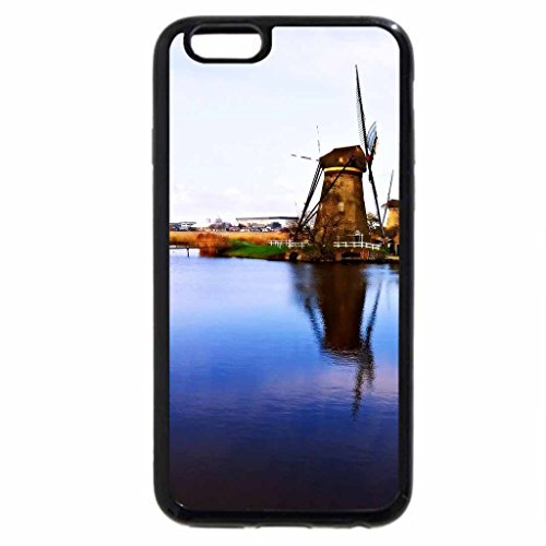 iPhone 6S / iPhone 6 Case (Black) Dutch Windmills