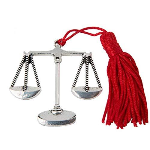 Ciondolo laurea bilancia laureato in legge bomboniera