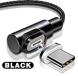 i-Tronixs (Noir) 1M Angle Droit, 90 Degrés [Forme L] Cordon de Charge tressé en Nylon magnétique Syncde données USB Powerline [Charge Rapide] Câble Durable pour ASUS ROG Phone 2