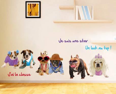wassaw Kinder Wandaufkleber Umweltfreundlich Entfernbarer Hintergrund Wandaufkleber Hund Katze Sport Indoor Baby Eagle Love Home Office