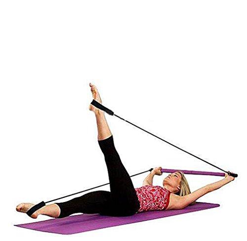 CHYIR, barra da palestra portatile per pilates, yoga, esercizi, fitness, barra con fascia elastica per i piedi