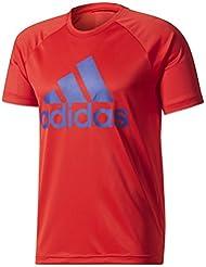 Adidas D2M Tee Logo Maglietta Uomo, Rosso (Escarl/Tinmis), L