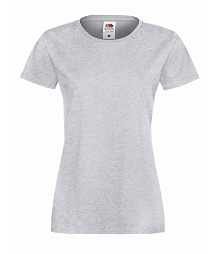 eb8561b50cd353 10er Pack Fruit of the Loom Ladies Sofspun® T-Shirt Crew Neck TShirt Damen