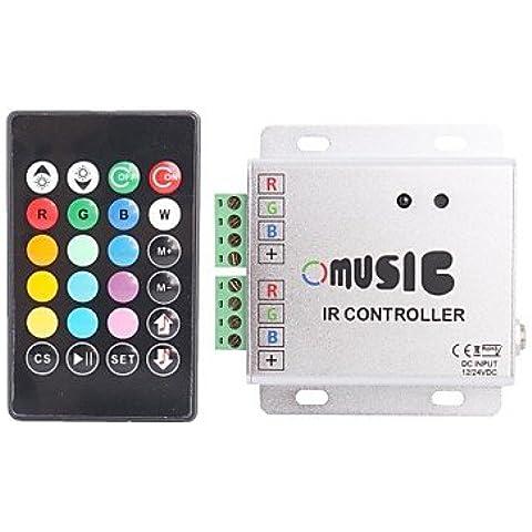 XMQC*288W Telecomando IR LED Strip RGB Controller musica 12~24(V)