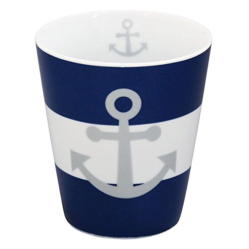 Emaille Tasse Becher Mit Anker Blau Campingbecher Ankermotiv Kaffeebecher Eb23 Büro & Schreibwaren