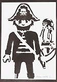 Póster Click Pirata Playmobil Grafiti Hecho A Mano - Handmade Street Art - Artwork