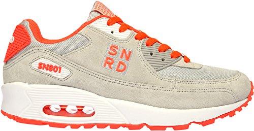 SN801 Casual coussin d'Air Unisexe Sport Baskets mode Gris - Gray Orange