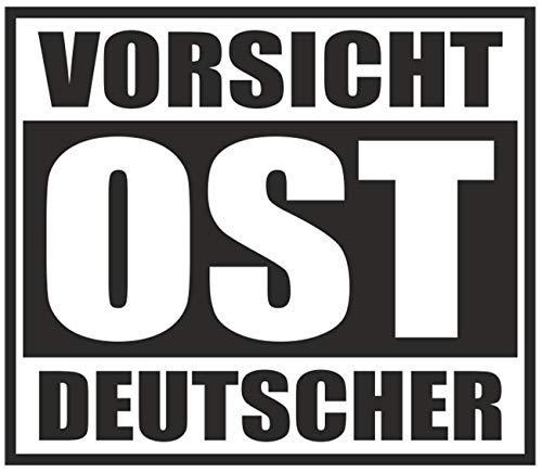 wetterfester Aufkleber Vorsicht OST Deutscher 11cm Ostdeutschland Ossi DDR Osten -