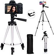 Xmate Metal Alloy Foldable Tripod | 5Kg Payload Capacity | 50-inch Adjustable Height | Camera & Mobile Pho