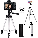 Xmate Metal Alloy Foldable Tripod | 5Kg Payload Capacity | 50-inch Adjustable Height | Camera & Mobile Phone Holder Mounted