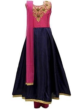 GCS2746 Camiseta de Churidar de la muchacha de las rosas azules y de las rosas fuertes Indian Bollywood Fancy...