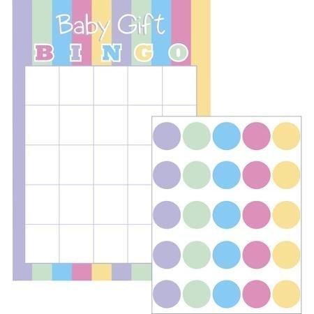 Baby Dusche Geschenk Bingo Spiel für 10Spieler von Let 's Celebrate