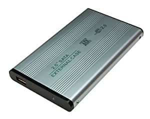"""LogiLink Boîtier externe USB 2.0 pour disque dur SATA 2,5 """" Aluminium"""