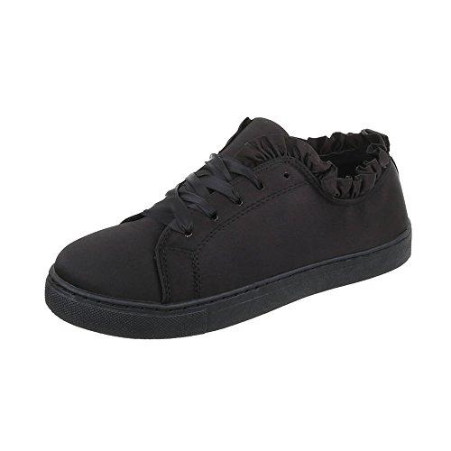 Sneakers Ital-design Basse Sneakers Da Donna Sneakers Basse Lacci Scarpe Casual Nere
