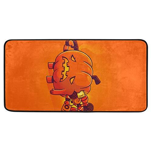 Vipsa Teppichläufer, rechteckig, Polyester, rutschfest, 99 x 51 cm, Halloween-Motiv
