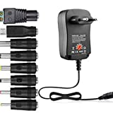 30W Power Supply adattatore universale AC/DC 3V / 4.5V / 6V / 7.5V / 9V / 12V 1.5A regolabile (nero)