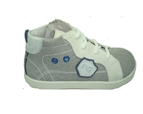 Nero Giardini , {Chaussures premiers pas pour bébé (garçon) Grigio-Bianco - - - Grigio-Bianco, 20 EU