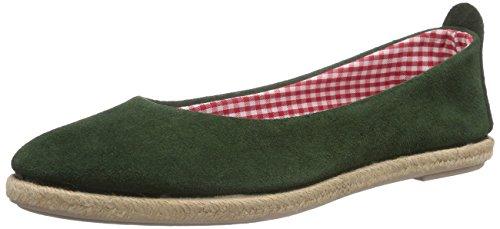 Bavarese Wp Wolpertinger Verde 5005 bosco Donna Ballerine x50d1wTdq