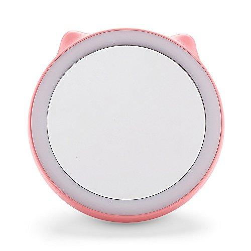 Anself Tragbaren 3-in-1 LED Kosmetikspiegel mit 18 LEDs & Power Bank 1500mAh USB wiederaufladbarer