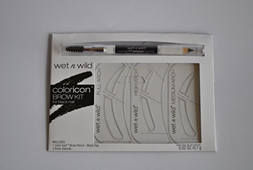 Wet N Wild Coloricon Brow Kit for Black Hair by Wet 'n Wild