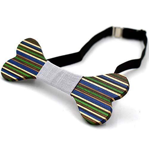 Kostüm Kroenen - YAOSHI-Bow tie/tie Krawatten und Fliegen für Herren Krawatte Klassik Smoking handgemachte hölzerne Fliege einstellbar Krawatten und Fliegen für (Farbe : Blau)