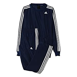 adidas TS Young Survêtement Homme Bleu Marine/Blanc FR : S (Taille Fabricant : 168)