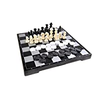 Quantum-Abacus-Magnetisches-Brettspiel-2-in-1-Premium-Gre-Schach-Dame-magnetische-Spielsteine-Spielbrett-zusammenklappbar-25cm-x-25cm-x-2cm-Mod-SC2680-DE Quantum Abacus Magnetisches Brettspiel 2-in-1 (Premium Größe): Schach, Dame – magnetische Spielsteine, Spielbrett zusammenklappbar, 25cm x 25cm x 2cm, Mod. SC2680 (DE) -
