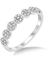 Miore Damen-Ring 375 Weißgold Brillanten Weiß 0,25ct MP9004RM