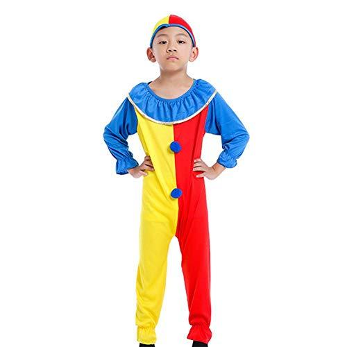 Männlich Clown Kostüm - GUAN Halloween Cosplay Kostüm Kinder Kostüme Maskerade Show Kinder Clown Kostüme