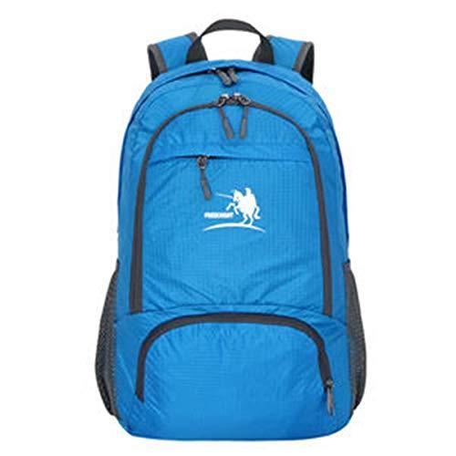 Outdoor-Rucksack (35L, Lila) Faltbare Rucksack Handtasche Leichte wasserdichte Nylon Tragbare Umhängetasche Rucksack für Outdoor-Sportarten Reisen Wandern Bergsteigen Radfahren Trekking Camping -