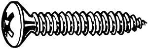 Blechschrauben Kreuzschlitz PZ Stahl schwarz verzinkt DIN7983 C-Z 3,5 X 19mm Linsensenkkopf 200Stk