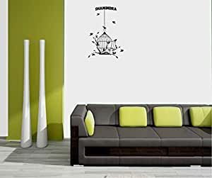 meSleep Personalized Birds Design Wall Sticker for Shamindra