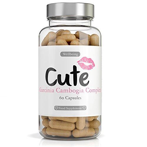 Garcinia Cambogia Complex per Donne (60 Capsule) di Cute Nutrition | Integratore Alimentare Naturale Brucia Grassi per Dimagrire | Soppressore di Fame Potente | In Regalo Un Piano di Allenamento