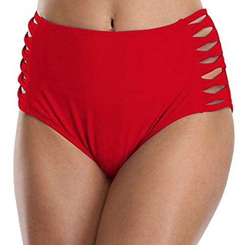 91043f8a1d56 ❤RYTEJFES Braguitas Mujer Vintage Shorts color sólido Deportivo casual  Shorts Plisada Pantalones Cortos Hueco Cintura Alta Sin costura Sexy Traje  de ...